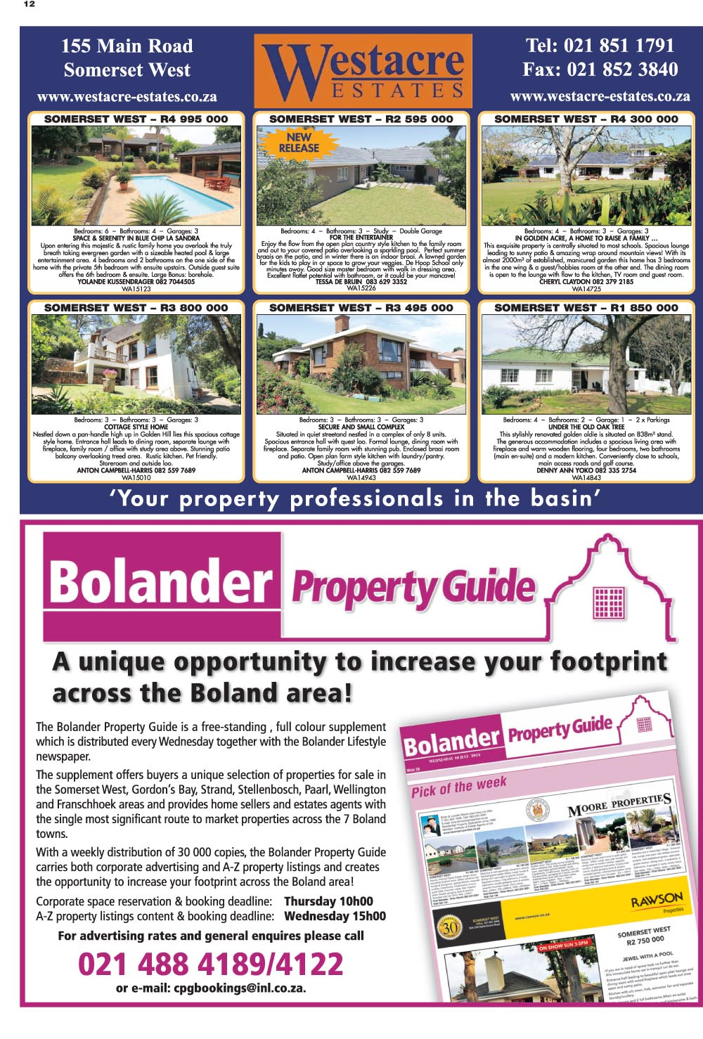 You are browsing images from the article: Property Selection 20 january 2016