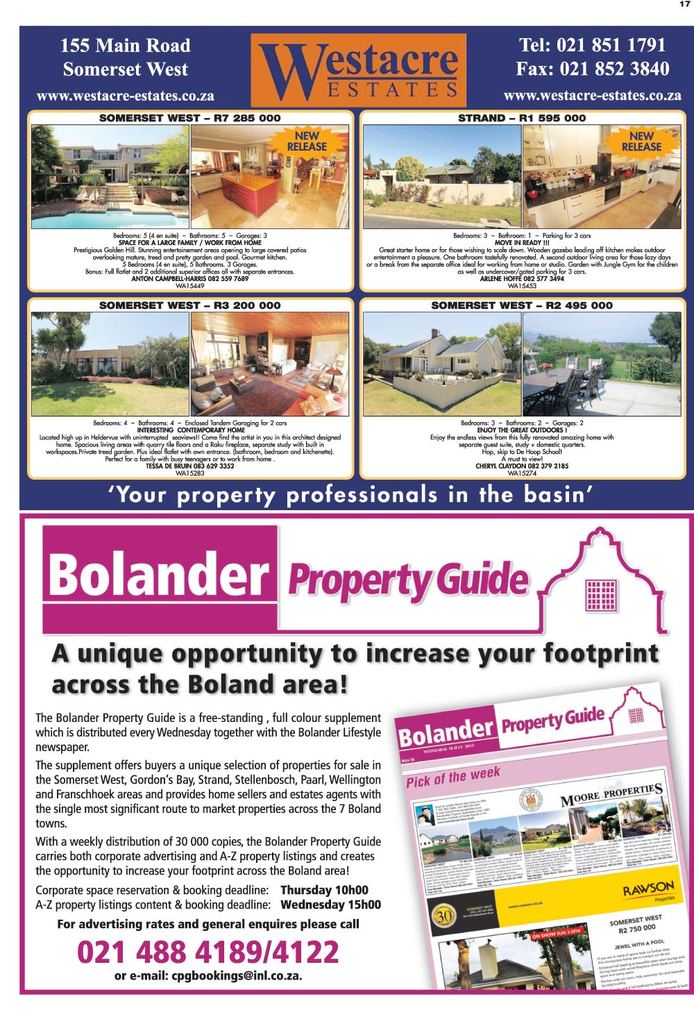 You are browsing images from the article: Property Selection 02 March-2016